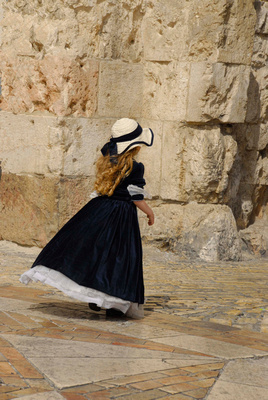 girl at Zion Gate